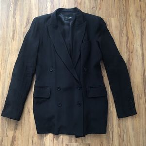 Reformation M Blazer Black Double Breasted